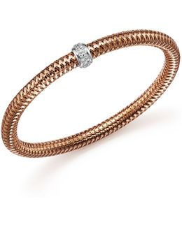 18k Rose Gold Primavera Stretch Bracelet With Diamonds