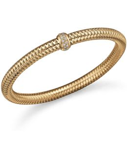 18k Yellow Gold Primavera Stretch Bracelet With Diamonds