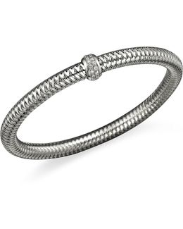 18k White Gold Primavera Stretch Bracelet With Diamonds