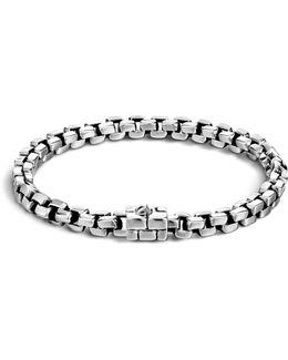 Men's Silver Square Link Bracelet