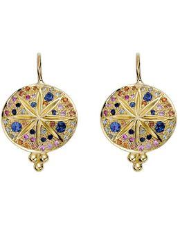 18k Yellow Gold Pavé Sorcerer Earrings
