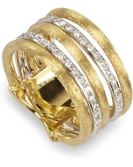 Diamond Jaipur Link 5-strand Band Ring