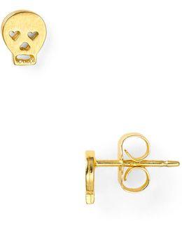 Little Things Mini Gold Skull Stud Earrings
