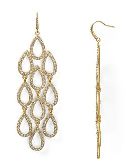 Pave Beach Chandelier Earrings