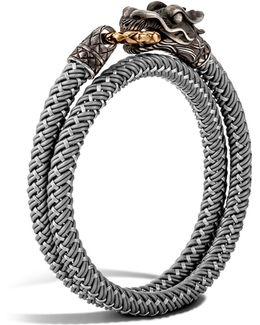 Men's Naga Double Wrap Dragon Cord Bracelet