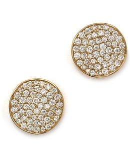 18k Gold Stardust Studs With Diamonds