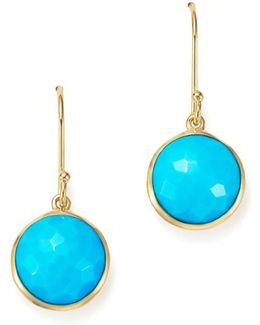 18k Gold Lollipop Earrings In Turquoise