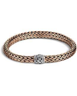 Men's Classic Chain Silver And Bronze Medium Chain Bracelet