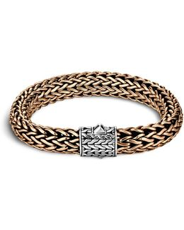 Men's Classic Chain Silver And Bronze Large Chain Bracelet