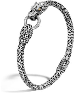 Naga Gold And Silver Dragon Station Chain Bracelet