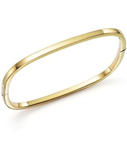 18k Yellow Gold Square Bangle