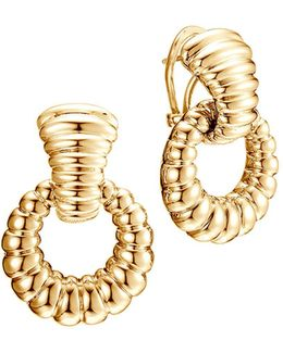 Bedeg 18k Gold Door Knocker Earrings