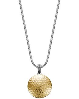 Sterling Silver And 18k Gold Palu Medium Round Pendant