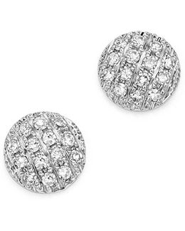 Diamond Lauren Joy Mini Earrings In 14k White Gold