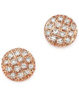 Diamond Lauren Joy Mini Earrings In 14k Rose Gold