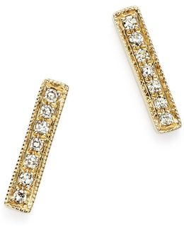 Diamond Sylvie Rose Earrings In 14k Yellow Gold