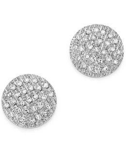 Diamond Lauren Joy Medium Earrings In 14k White Gold