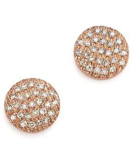 Diamond Lauren Joy Medium Earrings In 14k Rose Gold