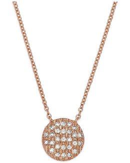 14k Rose Gold Lauren Joy Medium Necklace With Diamonds