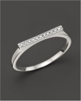 Diamond Sylvie Rose Ring In 14k White Gold