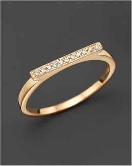Diamond Sylvie Rose Ring In 14k Yellow Gold