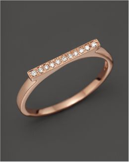 Diamond Sylvie Rose Ring In 14k Rose Gold