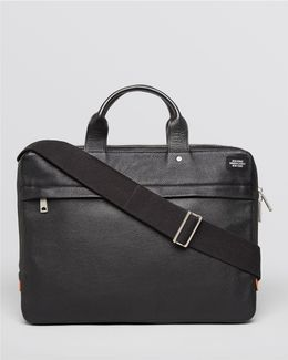 Mason Leather Slim Briefcase