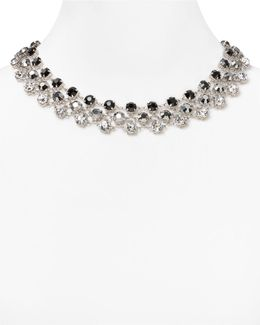 Three-row Mixed Rhinestone Necklace
