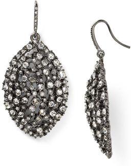 Mixed Glass Navette Drop Earrings