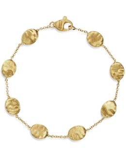 18k Yellow Gold Single Strand Bracelet
