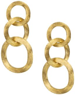 18k Yellow Gold Jaipur Three Link Earrings