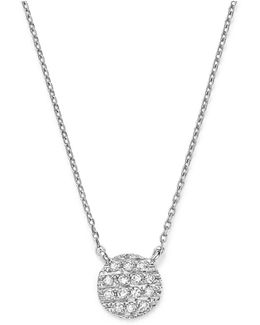 14k White Gold Lauren Joy Mini Necklace With Diamonds