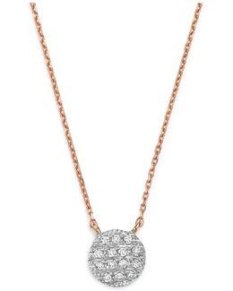 14k White & Rose Gold Lauren Joy Mini Necklace With Diamonds