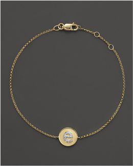 Diamond Pavé Initial Bracelet