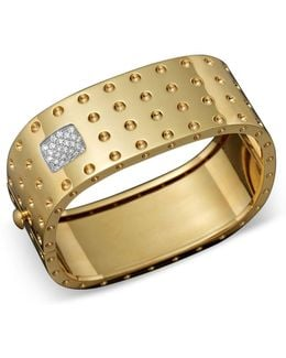 18k Yellow Gold Pois Moi Four Row Diamond Cuff