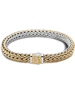 Classic Chain Gold And Silver Medium Reversible Bracelet