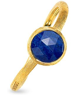 Jaipur Lapis Ring In 18k Yellow Gold