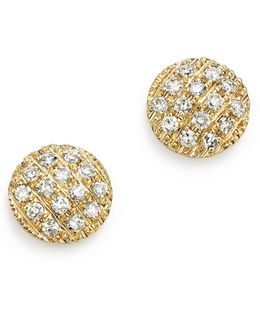 14k Yellow Gold Diamond Lauren Joy Mini Earrings