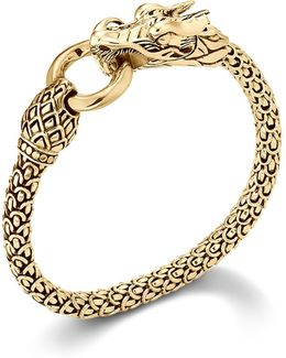 Naga 18k Yellow Gold Dragon Bracelet With Gold Ring