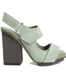 Strapped Block Heel Sandals