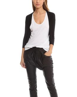Easy Cropped Cardigan