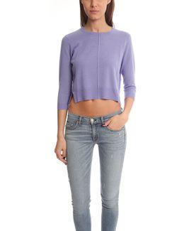 Crop Crewneck Sweater