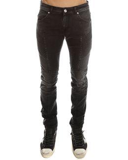 Ribbed Moto Jean