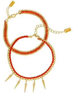 Orange Friendship Bracelet