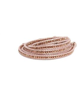 Suraiya Rose Gold Bead Wrap Bracelet