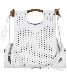 Priscilla Perforated Leather Handbag