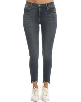 Le High Raw Stagger Skinny