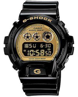 G Shock Black/gold Dw-6900lb-1cr