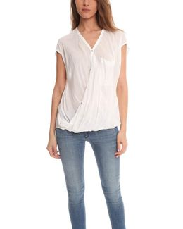 Lush Voile Draped Angled Top