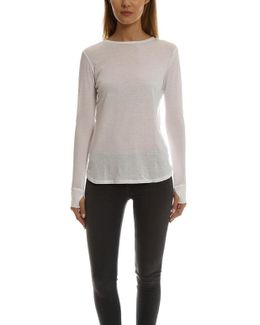 Cotton-cashmere Long Sleeve Tee
